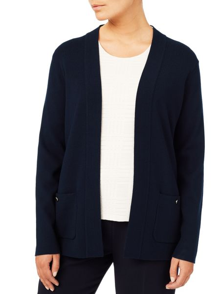 Eastex Navy Edge To Edge Cardigan