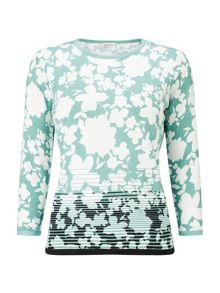 Eastex Graduated Floral Knit Jumper