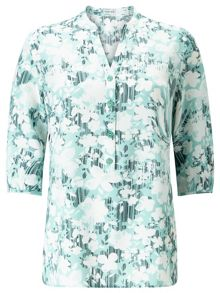 Eastex Linear Floral Print Tunic