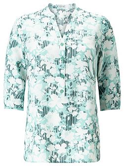 Linear Floral Print Tunic