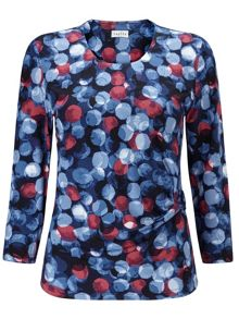 Eastex Large Painterley Spot Top