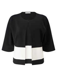 Jacques Vert Block Striped Crop Jacket