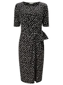 Jacques Vert Polka Dot Jersey Dress