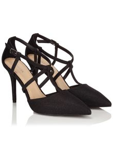 Precis Petite Black Shimmer Pointed Court