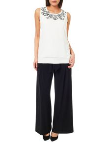 Windsmoor Black Wide Leg Palazzo Trouser