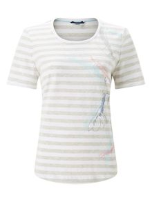 Dash Placement Print T-Shirt