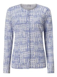 Dash House Print Cardigan