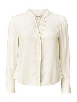 Khloe Lace Trim Blouse