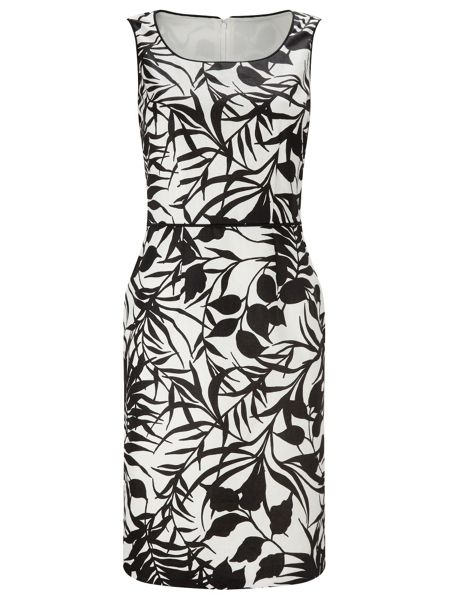 Jacques Vert Printed Linen Dress