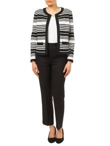 Eastex Striped Ponte Jacket