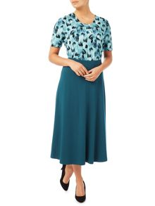 Eastex Midnight Teal Jersey Skirt