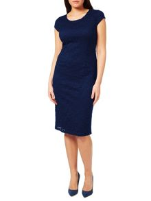 Windsmoor Navy Viola Lace Dress