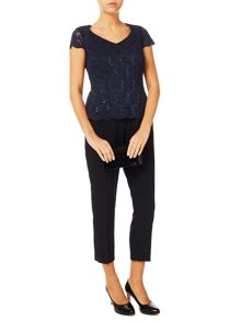 Jacques Vert Jersey Stretch Sequin Top