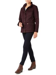 Dash Waxed Jacket Wine