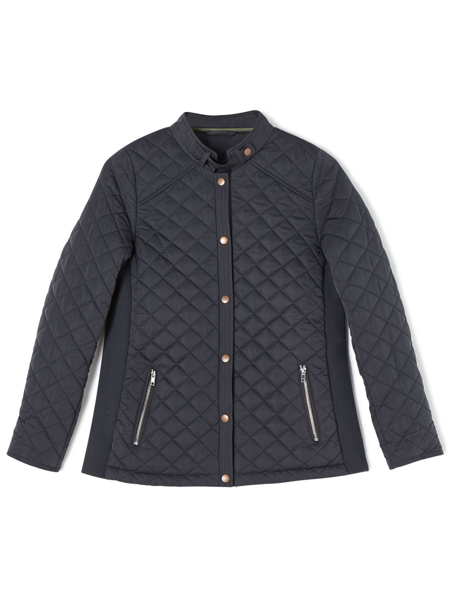 Dash Quilted Rib Side Jacket Navy