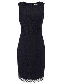 Precis Petite Navy Floating Bodice Dress