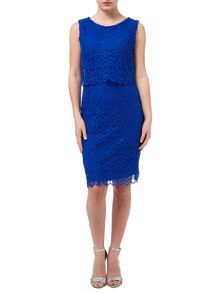 Precis Petite Cobalt Floating Bodice Dress