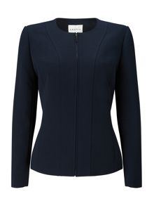 Eastex Zip Front Round Neck Jacket