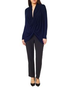 Windsmoor Navy Drape Front Top