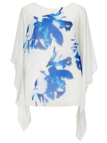 Windsmoor Blue And White Print Kaftan