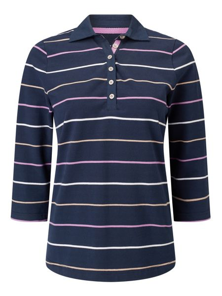 Dash Navy Fine Stripe Rugby