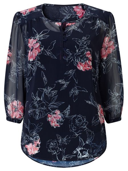 Dash Etched Rose Blouse