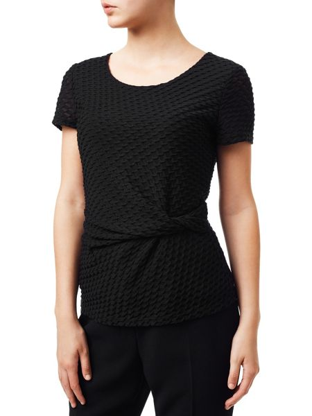 Planet Black Twist Textured Jersey