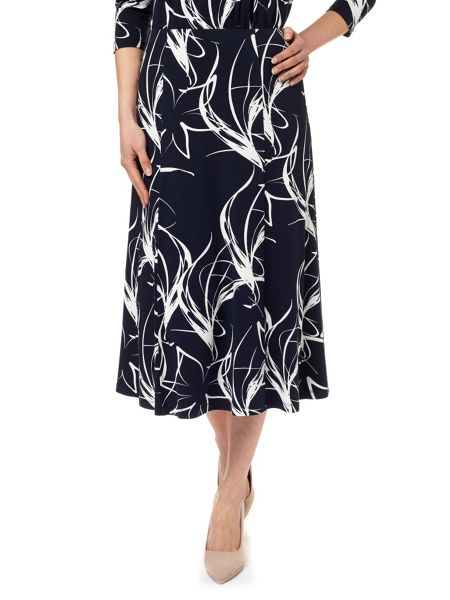 Eastex Wave Floral Print Skirt