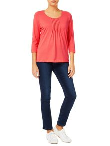 Dash Coral Pintuck Blouse