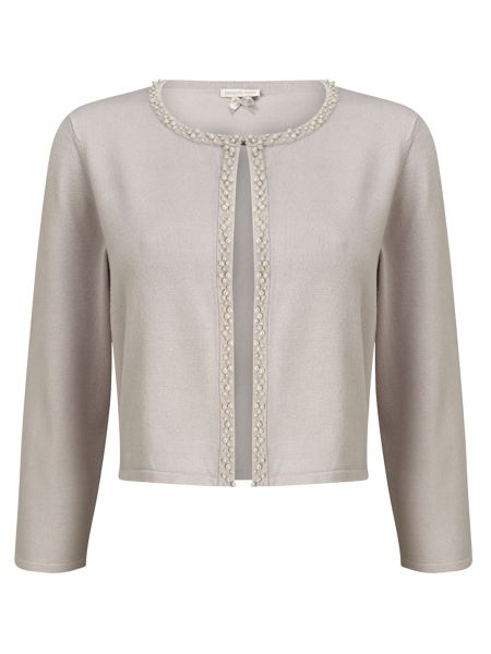 Jacques Vert Beaded Front Knit Cardigan