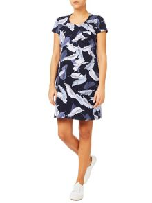 Dash Feather Print Dress