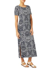 Dash Glass Print Maxi