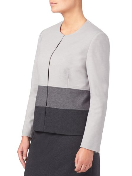 Eastex Colour Blocked Ponte Jacket