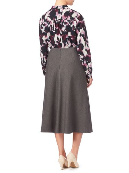 Eastex Grey Melange Pencil Skirt