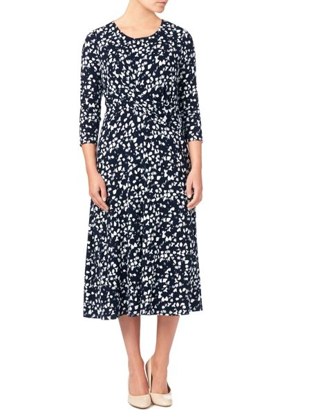 Eastex Monotone Print Dress
