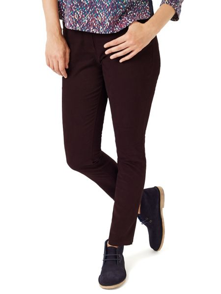 Dash Wine Sateen Trouser