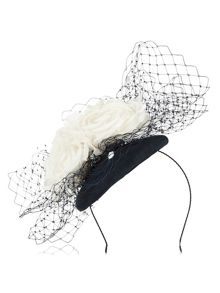 Jacques Vert Veil Flower Pillbox