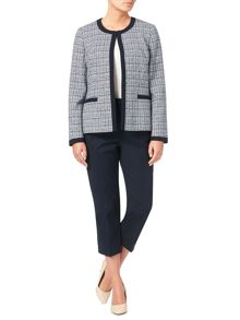 Eastex Contrast Tipped Tweed Jacket
