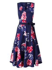 Precis Petite Rosa Print Flared Dress