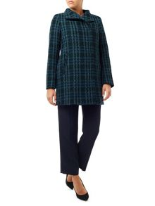 Eastex Check Wool Coat