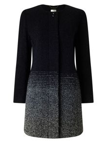 Eastex Ombre Stripe Wool Coat
