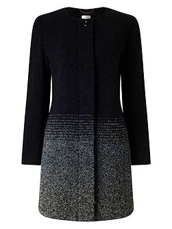 Ombre Stripe Wool Coat