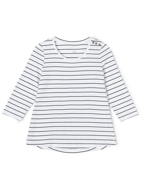 Dash Stripe Basic Tee