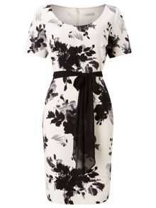 Jacques Vert Printed Crepe Dress