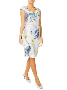 Jacques Vert Misted Bloom Shantung Dress
