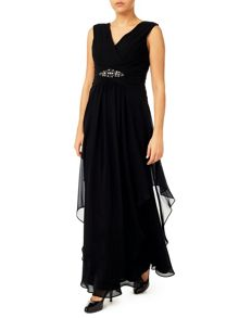 Jacques Vert Maxi Hanky Hem Dress