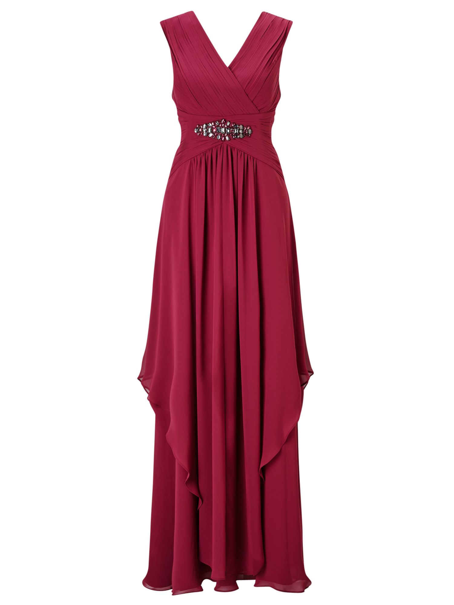 Jacques Vert Maxi Hanky Hem Dress Red £179.00 AT vintagedancer.com