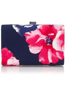 Precis Petite Cotton Sateen Print Clutch Bag
