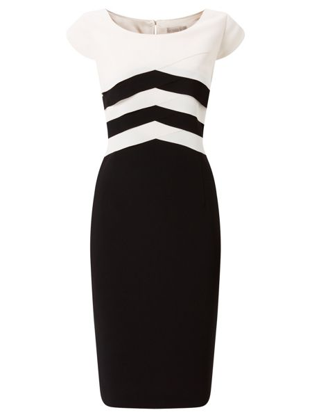 Jacques Vert Layers Bodice Crepe Dress