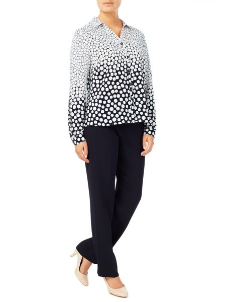 Eastex Graduated Spot  Blouse